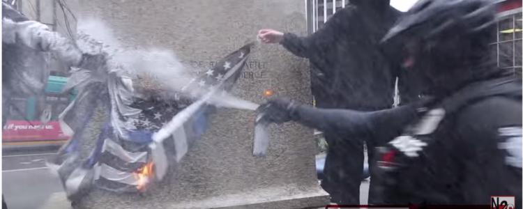 """Police and """"Mega MAGA March"""" Vs Antifa – Seattle"""